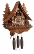 Eight Day Musical  Chalet Cuckoo Clock with  Hand-carved Dancing Bears in the Forest