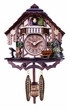 Musical Quartz Cuckoo Clock  Cottage with Deer, Water Pump, and Tree