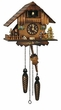 Deer Family Chalet Quartz Cuckoo Clock