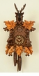 Unique Deer Horns Gold Leaves Cuckoo Clock