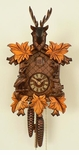 Unique Deer Head Gold Leaves Cuckoo Clock