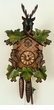 Unique Deer Horns Green Leaves Cuckoo Clock