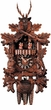 "BLACK FORREST CUCKOO CLOCK:  20"" HUNTER w/ DANCERS  1 DAY MOVEMENT MUSICAL"