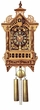"UNIQUE CUCKOO CLOCK 16"" DETAILED FRETWORK  8 DAY MOVEMENT"