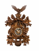 Exquisite Detail Eagle On Nest Cuckoo Clock