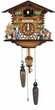 "CHALET CUCKOO CLOCK 8"" FAMILY MUSICAL & QUARTZ"