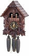 "CHALET CUCKOO CLOCKS:  14"" FEEDING BIRDS 8 DAY MOVEMENT  MUSICAL"