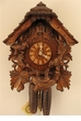 "CHALET CUCKOO CLOCKS:  14"" FEEDING BIRDS  8 DAY MOVEMENT"