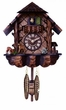Quartz Musical Cuckoo Clock  with Hand-carved Case and Feeding Deer