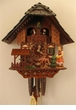 One-Day Musical  Cuckoo Clock Feeding Deer