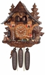 Eight Day Chalet  Musical Cuckoo Clock  Cottage - Moving Waterwheel Fisherman Raises Pole