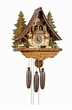 FOREST SCENE  REH DEER RABBIT SQUIRRELS MUSICAL CHALET CUCKOO CLOCK  8 DAY MOVEMENT