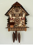 Musical Chalet  1 Day Cuckoo Clock Anton Schneider  Girl and Dog