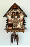 Anton Schneider  Chalet Musical Cuckoo Clock 1 Day  Girl, Dog, Dancers