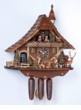 GIRL FEEDING DEER 8 DAY MOVEMENT  MUSICAL CUCKOO CLOCK