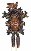 Green Leaves and Bird 8 Day Cuckoo Clock