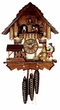 "CHALET CUCKOO CLOCKS:  12"" HAPPY WANDERER  1 DAY MOVEMENT"