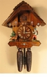"CHALET CUCKOO CLOCKS:  12"" HAPPY WANDERER W/ DOG  8 DAY MOVEMENT"