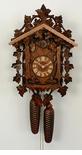 SYMMETRICAL SURROUNDING LEAVES 8 DAY CUCKOO CLOCK