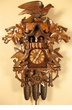Hawk and Birds Black Forest Cuckoo Clock Musical 8 Day Movement