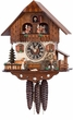 HIKER HIKING MUSICAL CHALET CUCKOO CLOCK