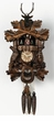"BLACK FORREST CUCKOO CLOCK:  17"" HUNTER  1 DAY MOVEMENT MUSICAL"