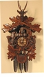 Hunter Hunting  Deer Squirrels Rifle Dancers Musical Cuckoo Clock