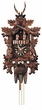 "BLACK FORREST CUCKOO CLOCK:  17"" HUNTER w/ DANCERS  1 DAY MOVEMENT MUSICAL"