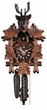 "BLACK FOREST CUCKOO CLOCK:  10"" HUNTER w/DEER HEAD  1 DAY MOVEMENT"
