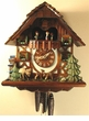 "CHALET CUCKOO CLOCK 13"" JUMPING DEER FAMILY  1 DAY MOVEMENT"