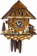 "CHALET CUCKOO CLOCK:  12"" KISSING LOVERS  1 DAY MOVEMENT"
