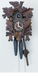 "9"" LEAF & BIRD  1 DAY MOVEMENT CUCKOO CLOCK"