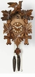 "GERMAN CUCKOO CLOCKS:  13"" LEAF & BIRD  1 DAY MOVEMENT"