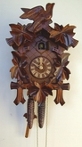 "CUCKOO CLOCK 12"" LEAF & BIRD  1 DAY MOVEMENT"