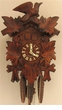 MUSICAL CUCKOO CLOCK LEAF and BIRD
