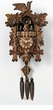 "GERMAN CUCKOO CLOCKS 14"" LEAF & BIRD  1 DAY MOVEMENT MUSICAL"