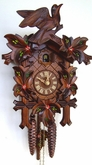CUCKOO CLOCK LEAF & BIRD HAND PAINTED FLOWERS 1 DAY MOVEMENT