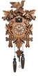 "QUARTZ CUCKOO CLOCK  13"" LEAF & BIRD  MUSICAL"