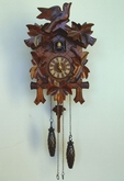 schneider quartz cuckoo clock 12 inch Leaf and Bird