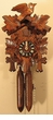 "CUCKOO CLOCKS 9"" LEAF & BIRD  WOODEN WEIGHTS 1 DAY MOVEMENT"