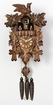 "GERMAN CUCKOO CLOCKS:  14"" LEAF & BIRD w/ DANCERS  1 DAY MOVEMENT MUSICAL"