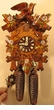 "CUCKOO CLOCK 13"" LEAF & BIRD w/ FLOWERS  8 DAY MOVEMENT"
