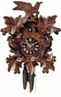 "CUCKOO CLOCKS:  16"" LEAF & BIRDS  1 DAY MOVEMENT"