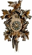 "10"" LEAF & BIRDS  1 DAY MOVEMENT CUCKOO CLOCK"