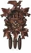 "MUSICAL GERMAN CUCKOO CLOCK 19"" LEAF & BIRDS  8 DAY MOVEMENT"