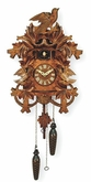 "QUARTZ CUCKOO CLOCKS:  15"" LEAF & BIRDS  MUSICAL"