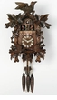 "GERMAN CUCKOO CLOCKS:  16"" LEAF & BIRDS w/ NEST  1 DAY MOVEMENT MUSICAL"