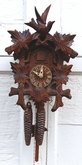 Carved Bird and Leaves 1 Day Cuckoo Clock