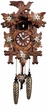 "Quartz Cuckoo Clocks  14"" Leaf & Bird w/ Flowers"