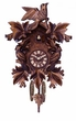 Quartz German Cuckoo Clock  Seven Hand-carved Maple Leaves Three birds